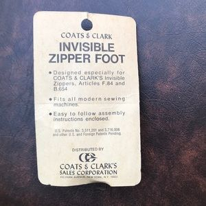 Vintage used  invisible zipper foot